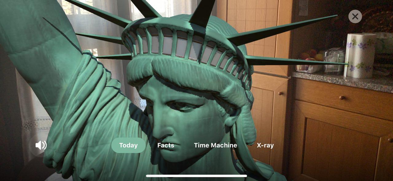 Esplora la Statua della Libertà in realtà aumentata con l'app Statue of Liberty