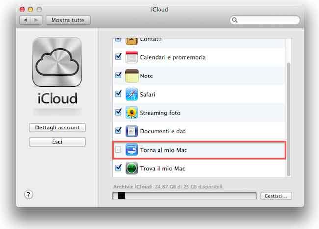 """La funzione """"Torna al mio Mac"""" non sarà più utilizzabile dall'1 luglio"""