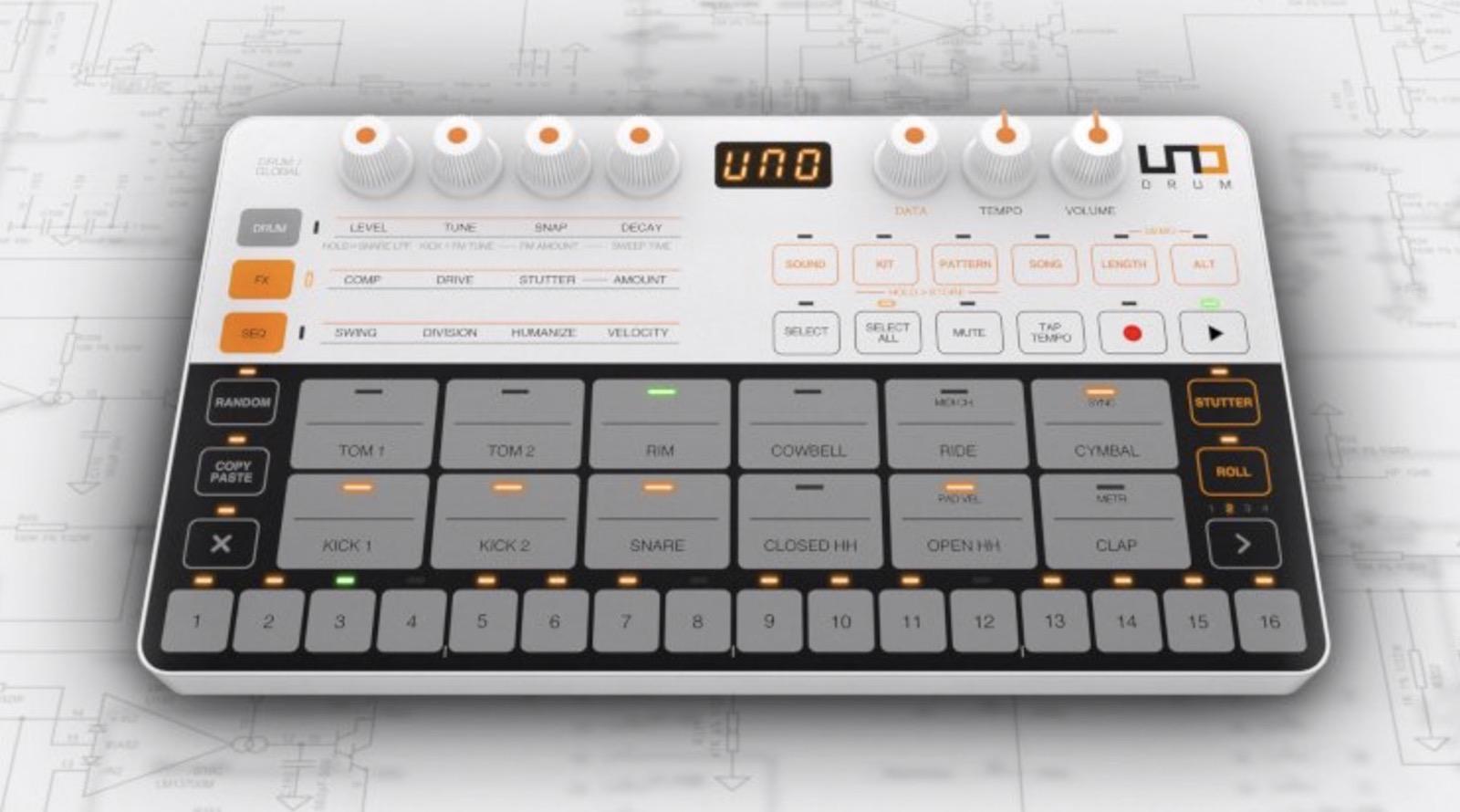 ik multimedia uno drum la batteria che unisce analogico e digitale ora in vendita. Black Bedroom Furniture Sets. Home Design Ideas