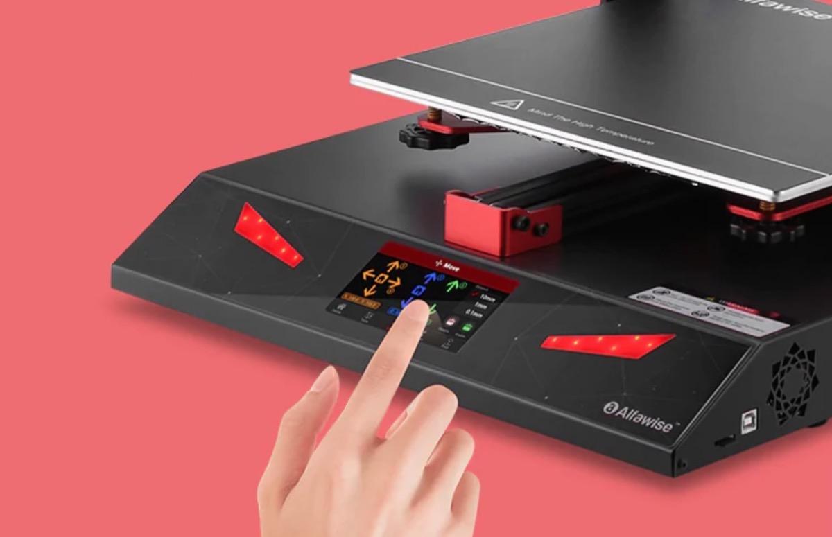 Alfawise U20 Pro, stampante 3D con schermo touch scontata a 425,34 euro