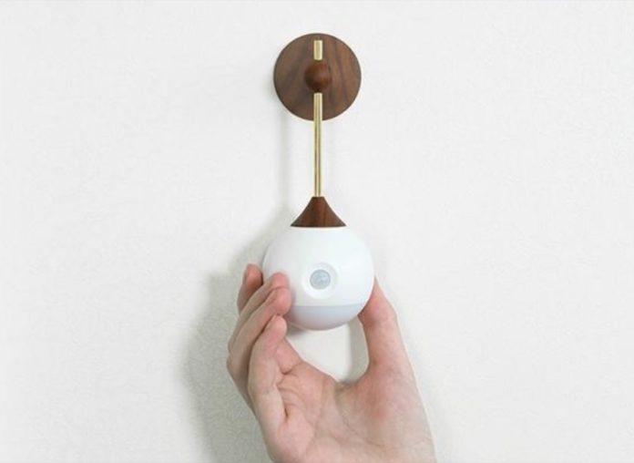 Sothing, la lampada da parete removibile con batteria ricaricabile
