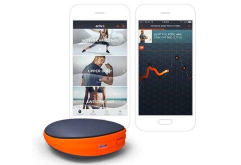 Activ5 è un dispositivo portatile per l'allenamento che comunica con un'app che fa da coach