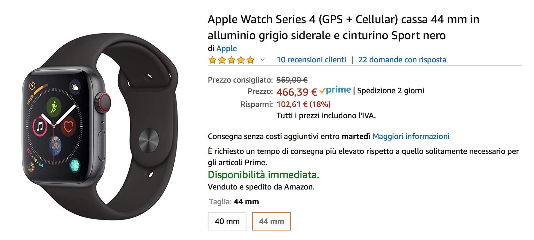 Volete un Apple Watch? Oggi Amazon ve lo sconta come nessuno