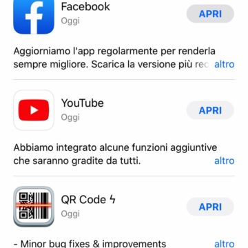 iOS 13 permette di eliminare le app direttamente dall'elenco Aggiornamenti dell'App Store
