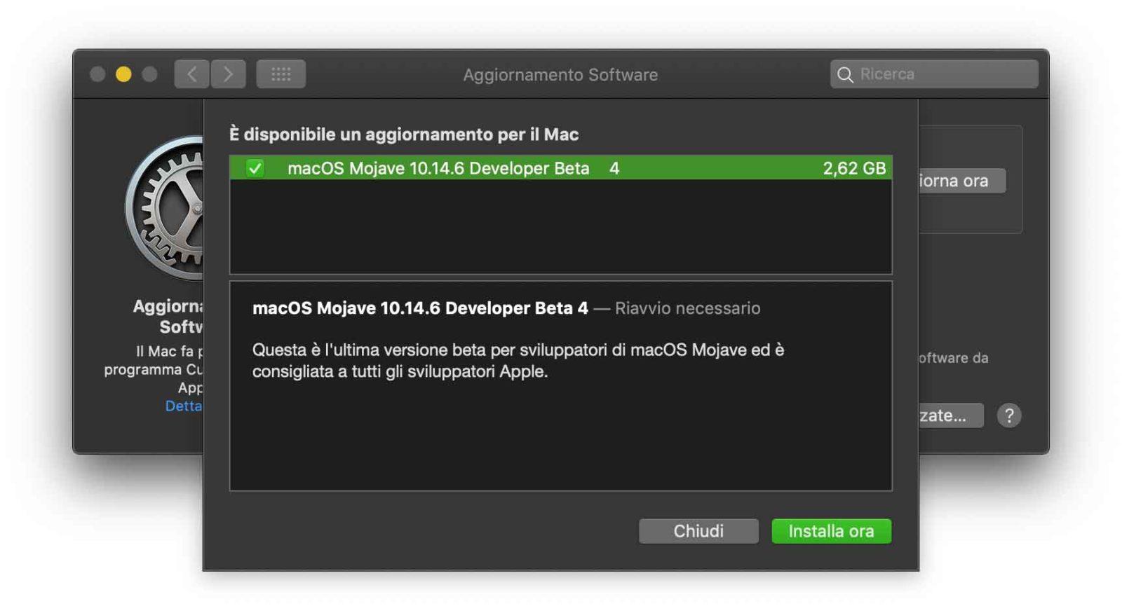 Terza beta di macOS 10.14.6 agli sviluppatori