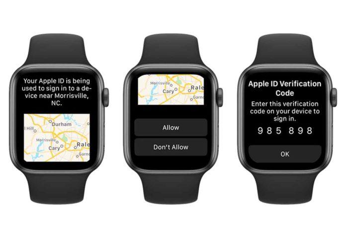 Con watchOS 6 possibile verificare i codici di verifica per l'accesso con l'ID Apple su un nuovo dispositivo o browser