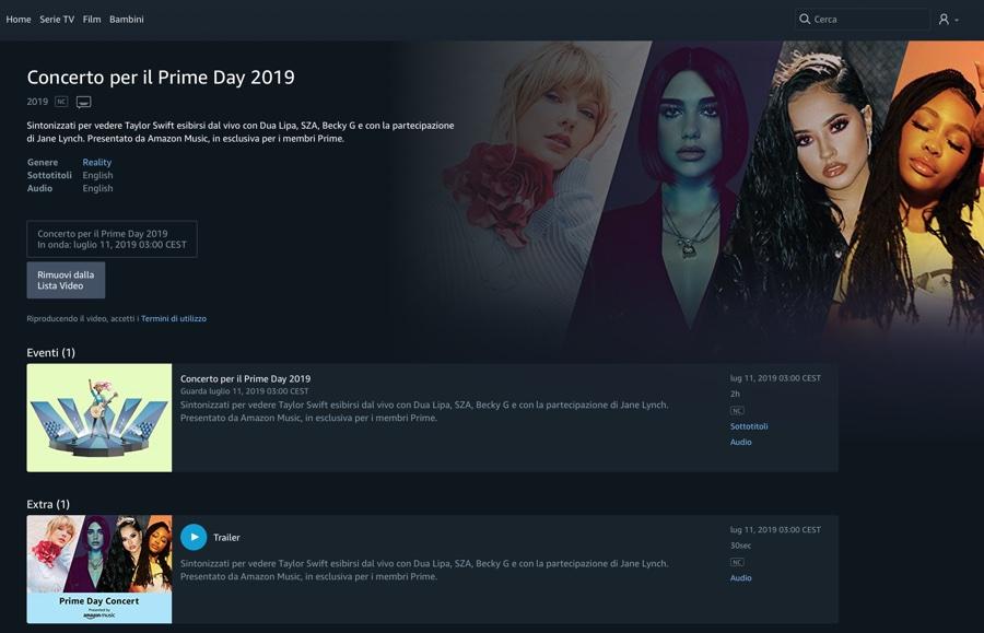 Amazon Prime Day, oltre agli sconti arriva il concerto con Taylor Swift ricco di star e artisti