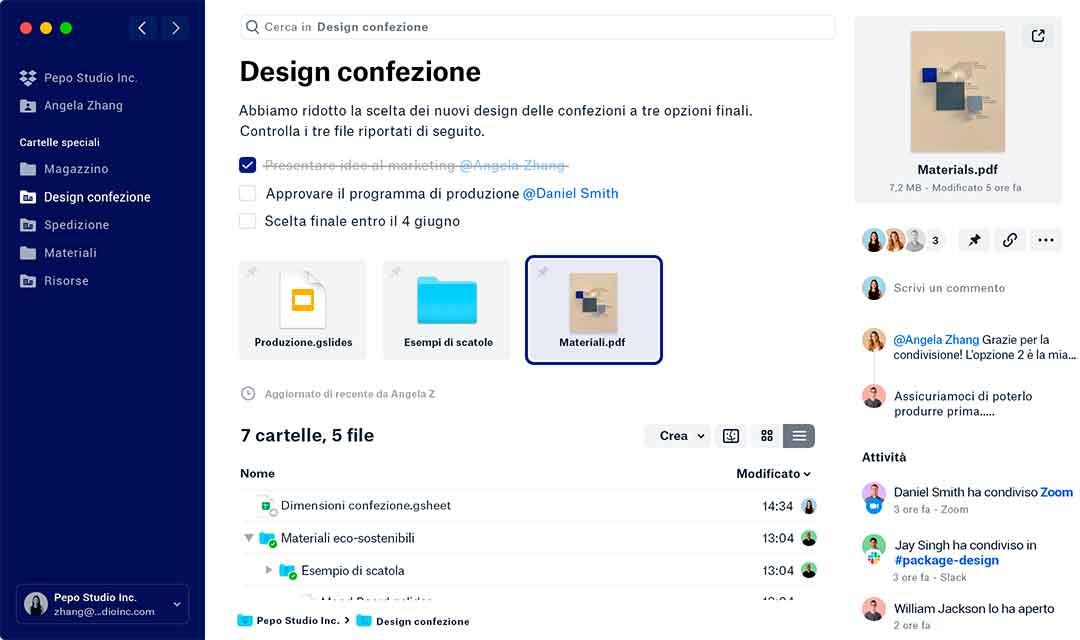 Dropbox rinnova l'app per Mac, iOS e web con nuovi strumenti e funzionalità