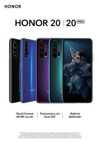 Honor 20 e 20 PRO presto in Italia, a partire dal 24 giugno in anteprima sullo store ufficiale