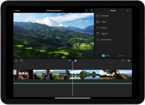Apple ha aggiornato iMovie per iOS, con un nuovo effetto greenscreen e nuove colonne sonore