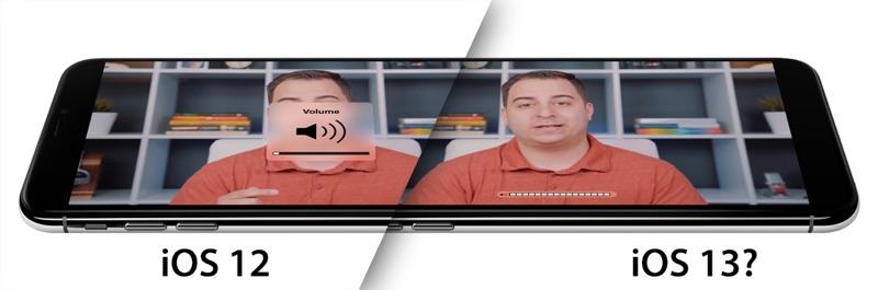 Nuova grafica per il controllo volume in iOS 13