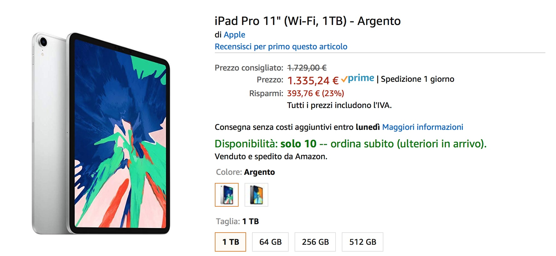 iPad Pro in sconto