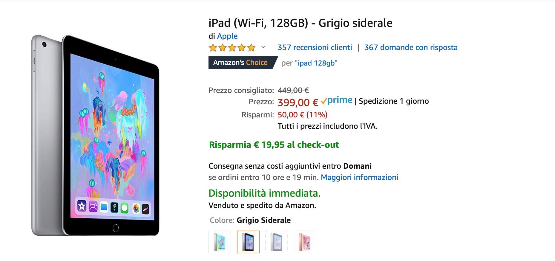 """Amazon rilancia gli sconti """"segreti"""" su mondo Apple: iMac, MacBook Air, iPhone X, iPad Pro"""