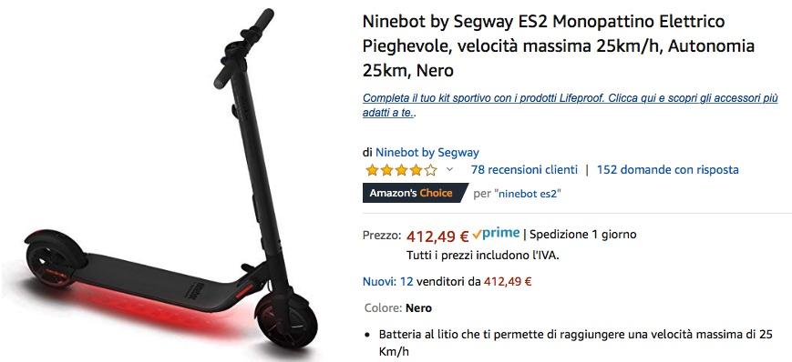 Monopattino elettrico? Comprate in sconto Ninebot By Segway ES2 su Amazon