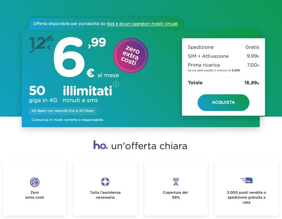 ho. e Kena lanciano le offerte anti Iliad da 50GB a 6,99 euro al mese