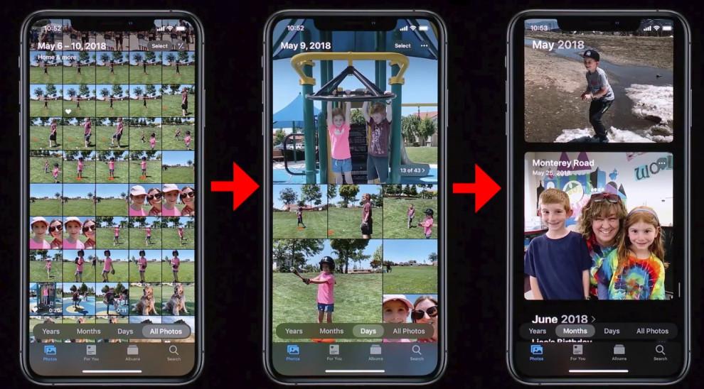 Foto su iPhone, iOS 13 stravolge completamente l'applicazione