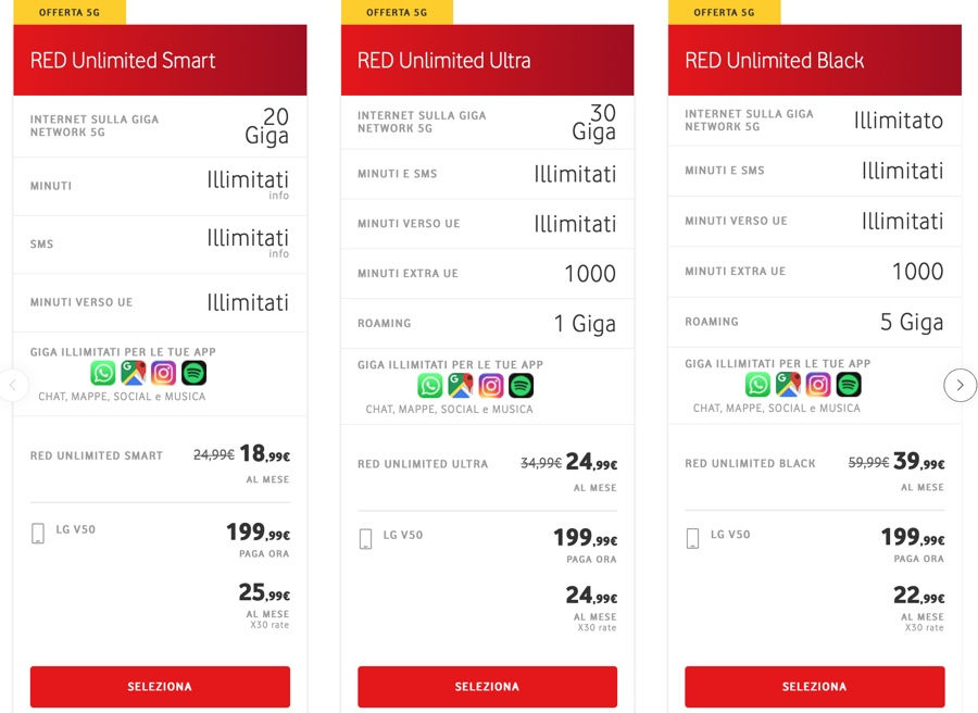 LG V50 ThinQ 5G disponibile in Italia con Vodafone: i prezzi