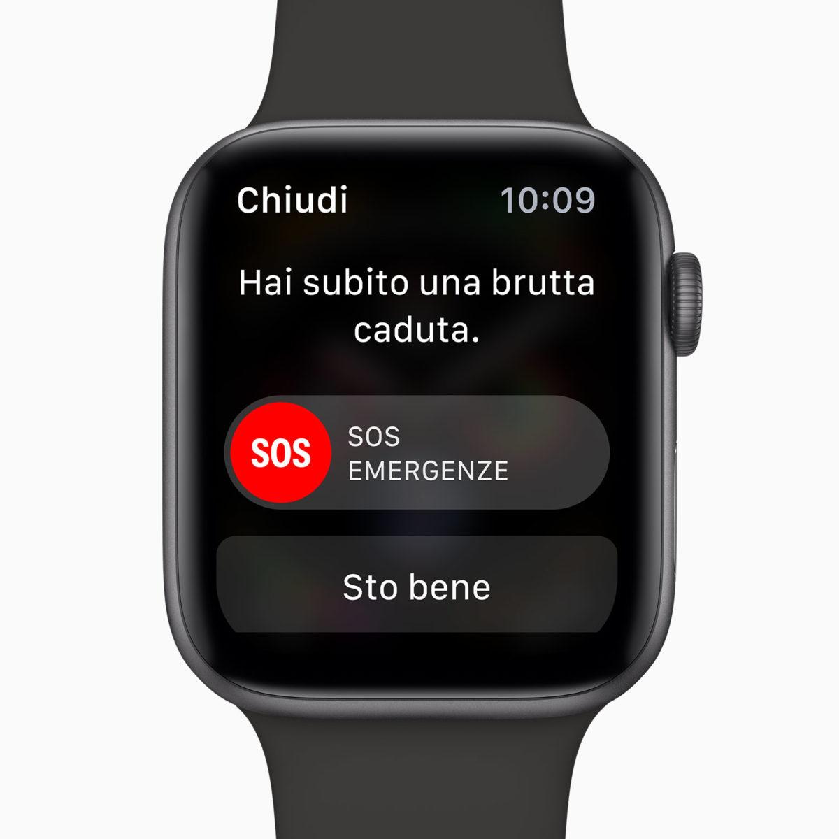 Il rilevamento cadute di Apple Watch 4 ha aiutato una 87enne a chiamare i soccorsi dopo un incidente