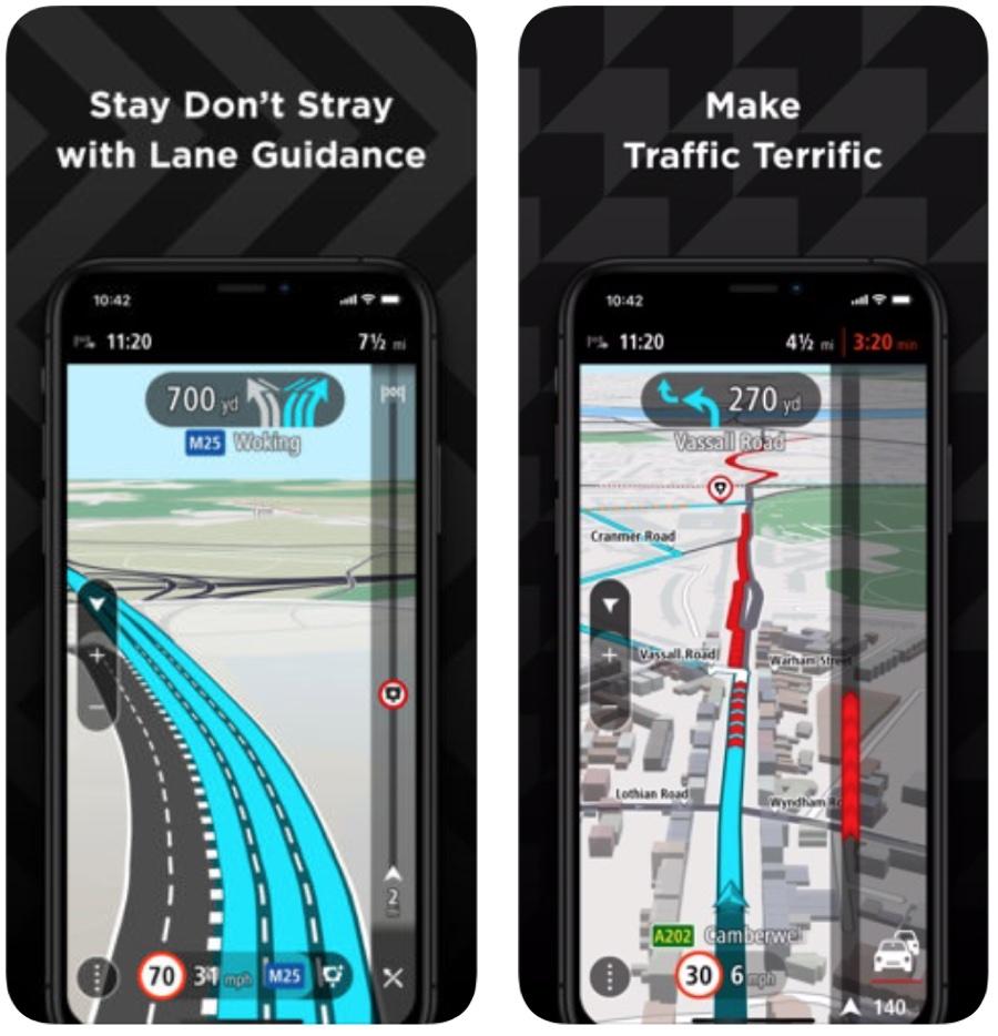TomTom per iPhone brilla con supporto CarPlay, mappe offline e altro