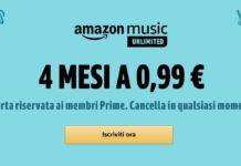 Offerta Amazon Music Unlimited al prezzo di un caffè per quattro mesi