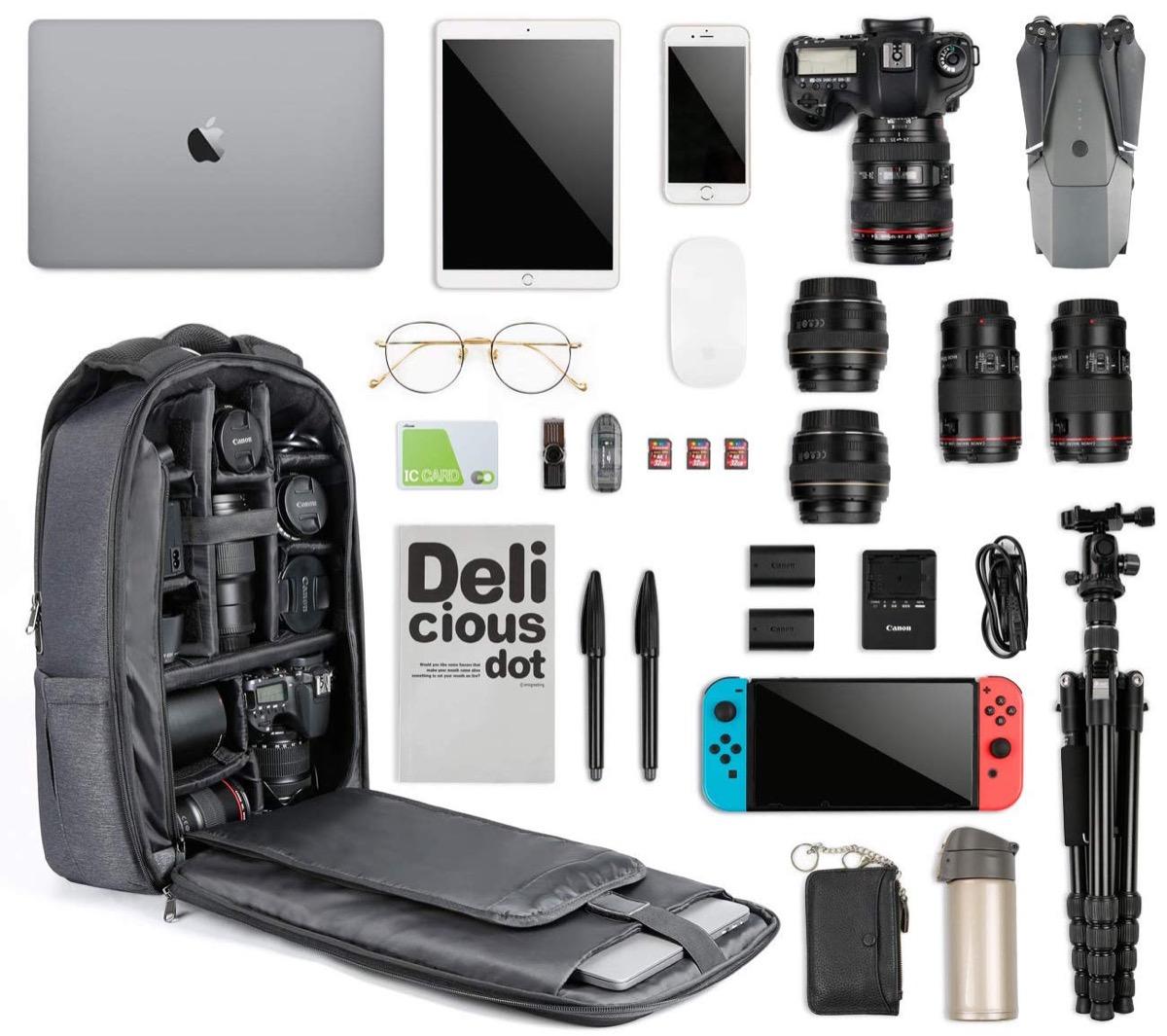 """Zaino fotografico Inateck con slot per portatili 15"""": sconto a 58,39 euro"""