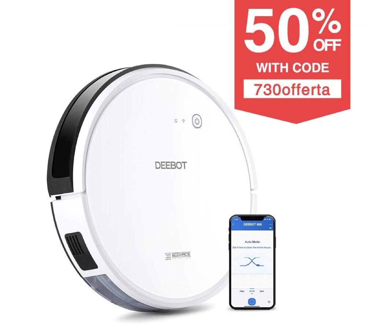 Solo oggi: aspirapolvere robot + lavapavimenti Ecovacs Deebot 605 a meno di metà prezzo