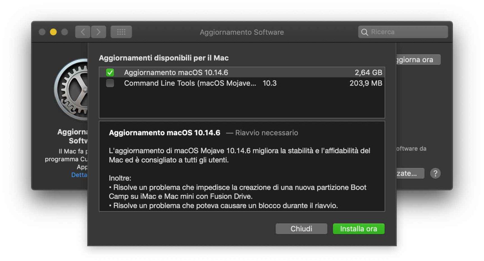 Disponibile la versione definitiva dell'update a macOS 10.14.6