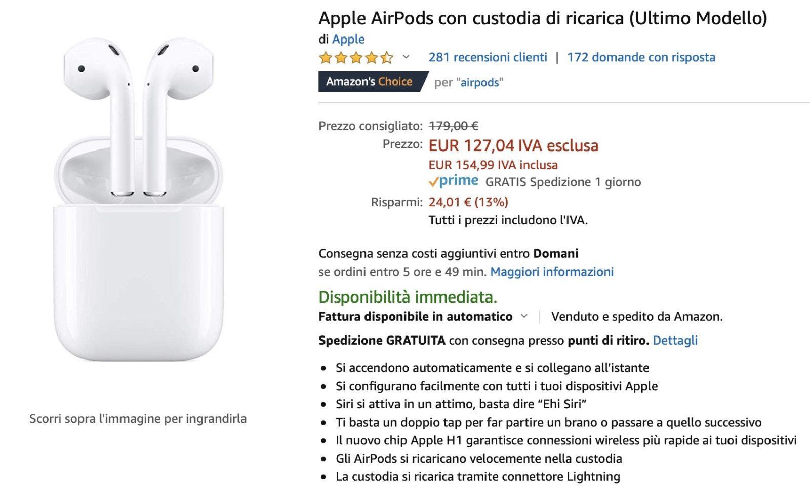 Sconto AirPods 2, ora al prezzo più basso di sempre su Amazon: 147€