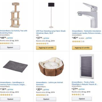 Amazon sfida IKEA: offerte AmazonBasics per casa, bagno e animali domestici