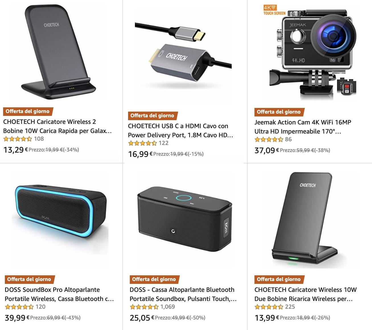 Sconti Amazon 19 luglio fino al 70%: Philips, Samsung, WD, SanDisk, Crucial, Arlo, Sonos, LG, Bose