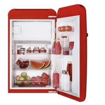 Candy Divo, il minifrigorifero rosso che raffredda e arreda in offerta flash Prime Day