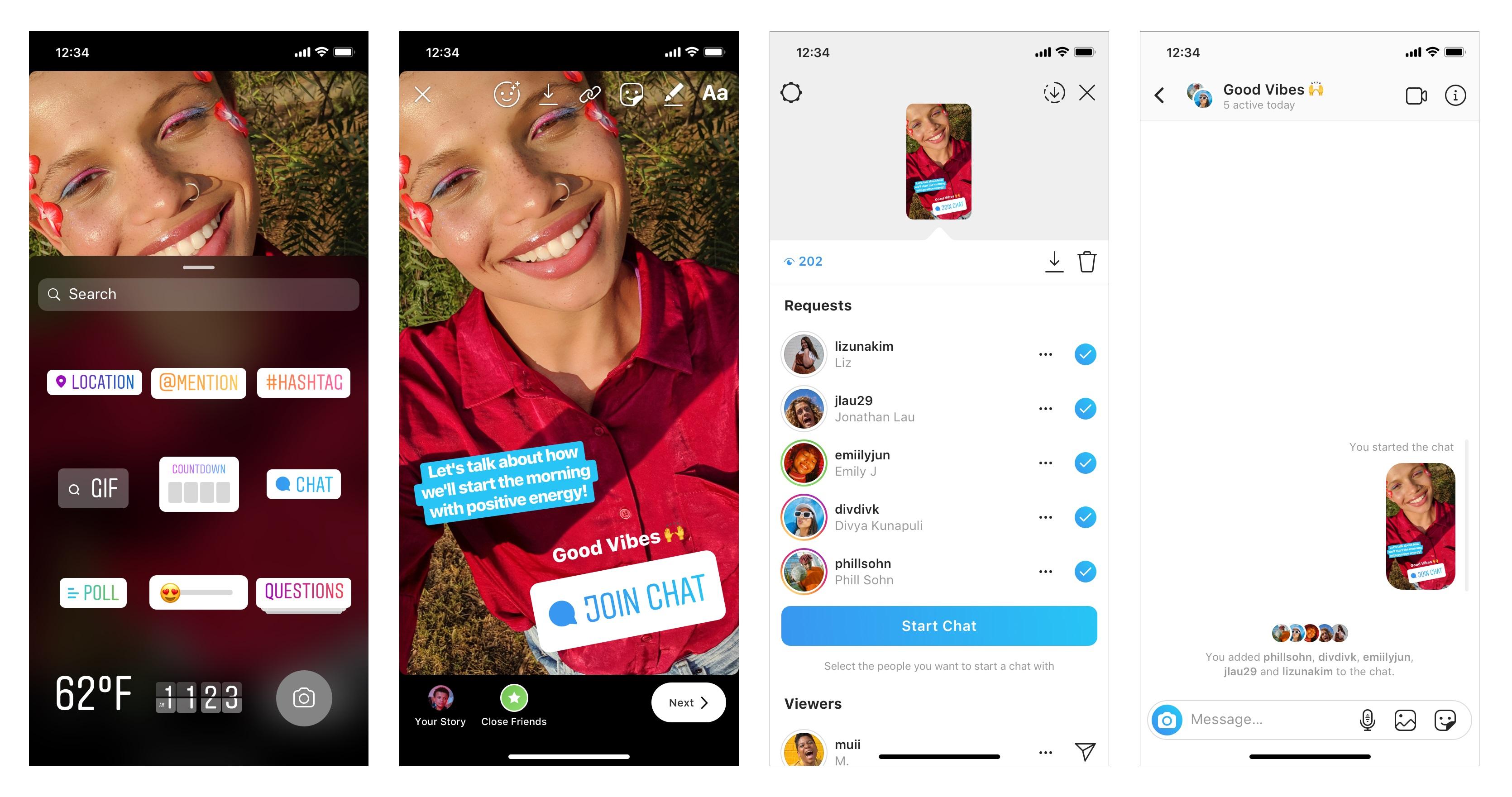 Instagram lancia il nuovo sticker Chat
