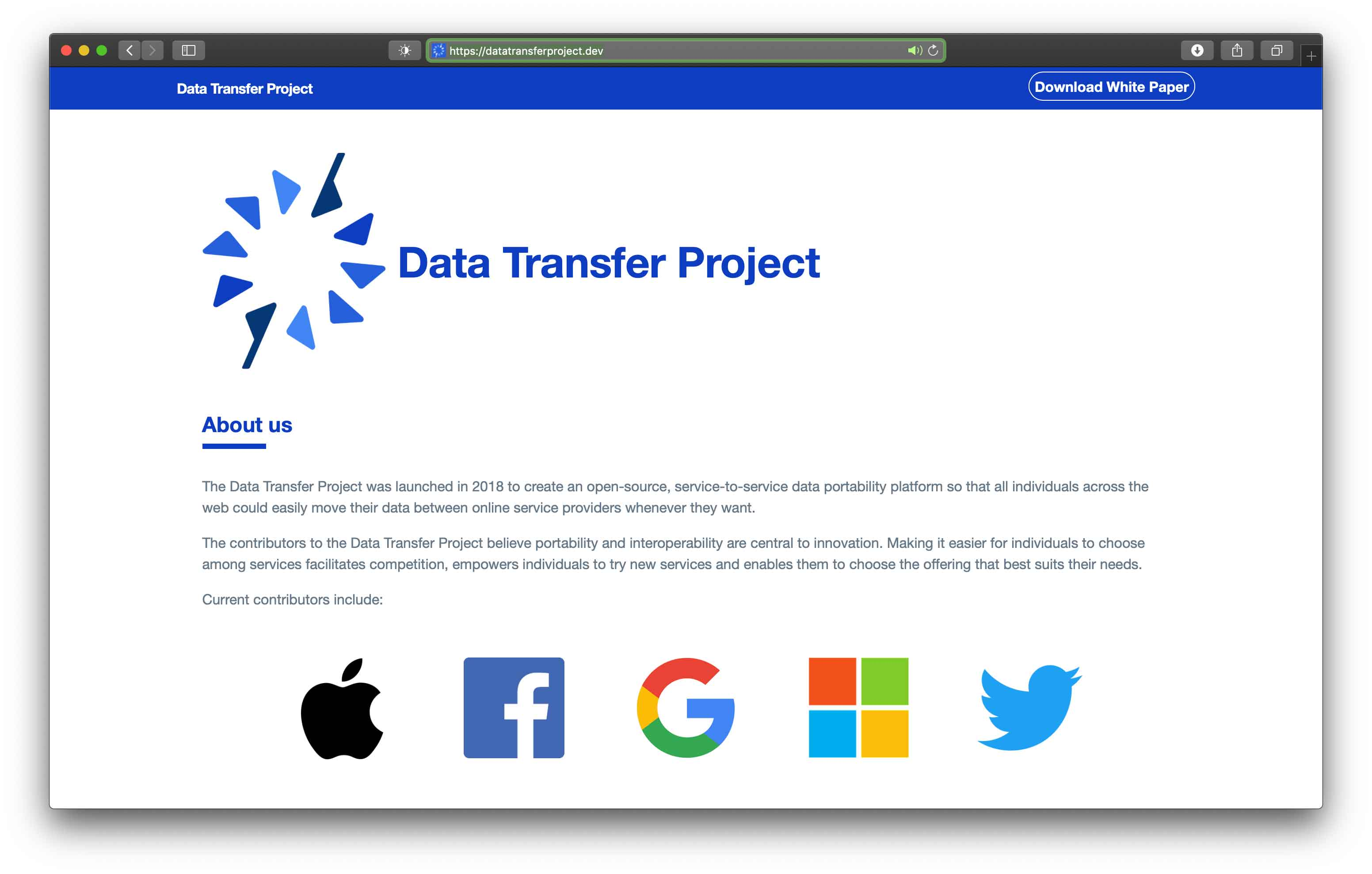 Apple aderisce al Data Transfer Project di Facebook, Google, Microsoft e Twitter