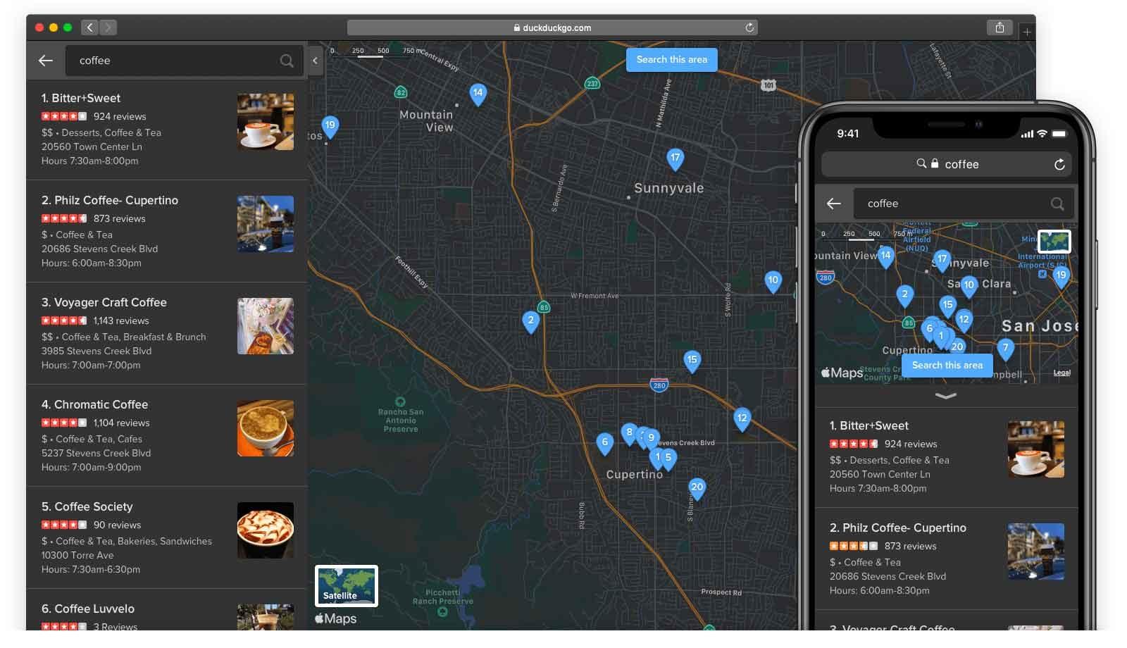 DuckDuckGo migliora l'integrazione con Mappe di Apple