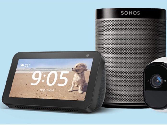Offerta Prime Day accessori Alexa Amazon e Assistente Google, lampadine, prese, termostati, videocamere e udio