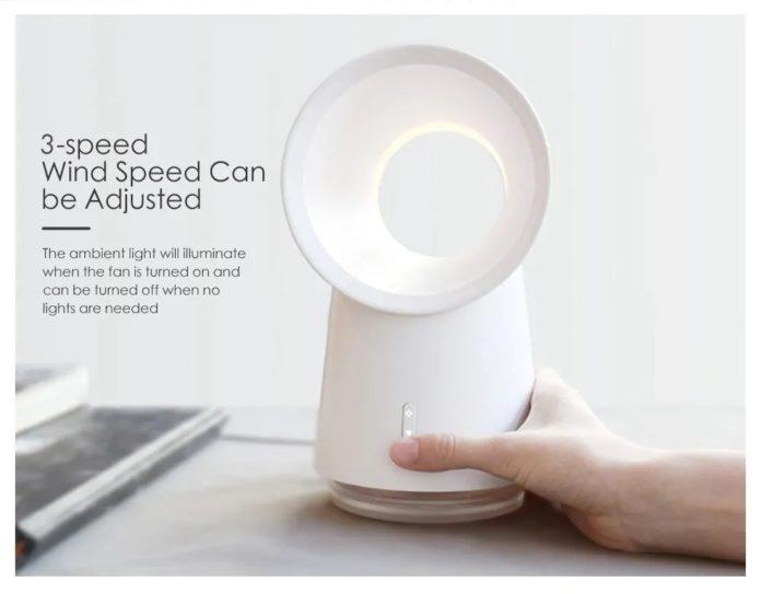Lampada Xiaomi con funzione ventilatore e umidificatore a 33 euro