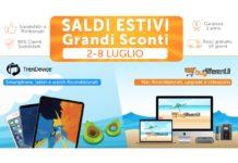 Saldi Estivi TrenDevice e BuyDifferent: 7 giorni di Sconti no-stop su Smartphone, Tablet e Mac Ricondizionati. (iPhone X da 619,90€)