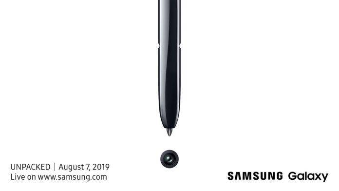 Samsung Galaxy Note 10 sarà svelato il 7 agosto