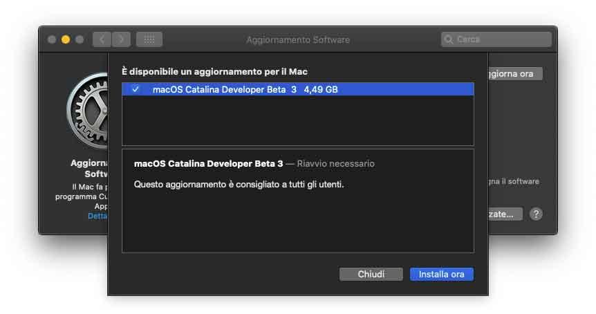 macOS Catalina, terza beta agli sviluppatori