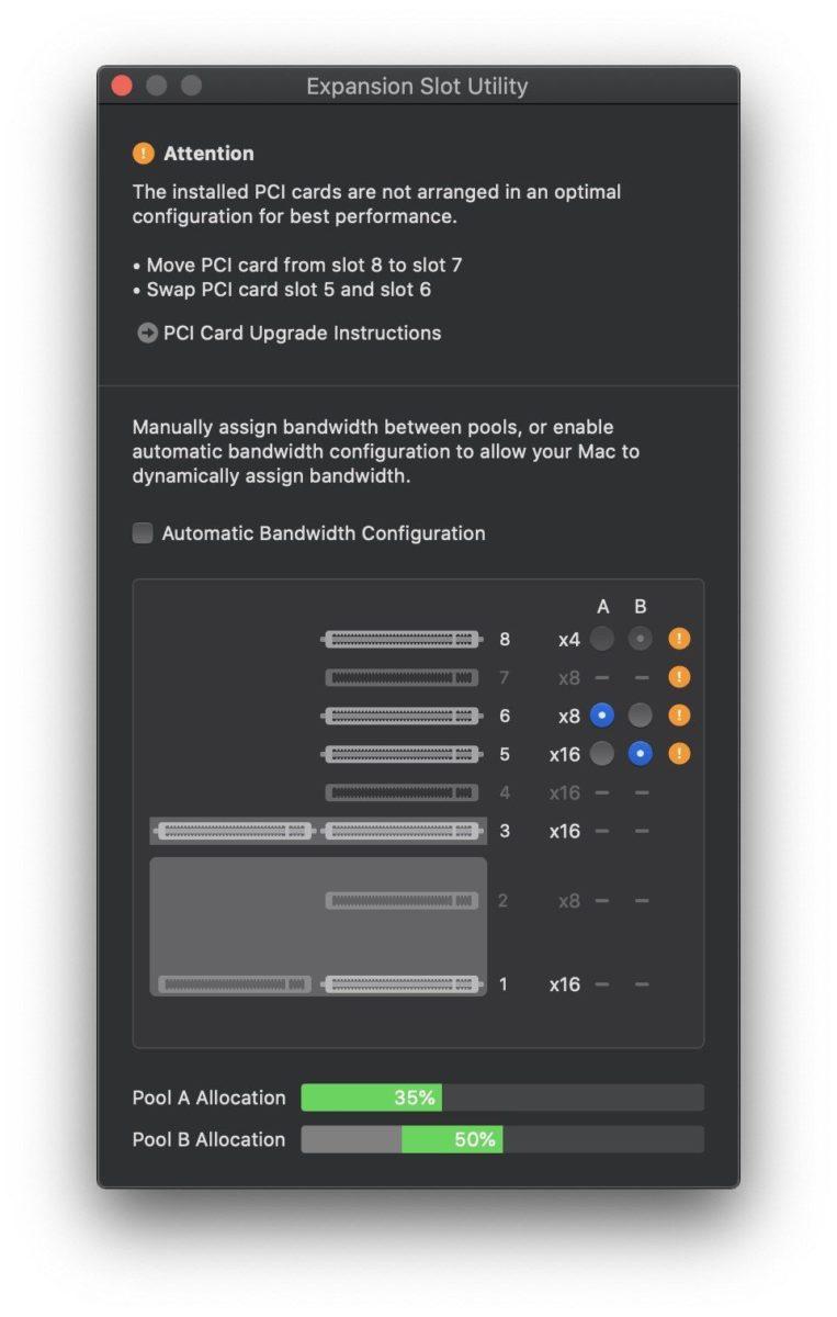 Con macOS 10.15 Catalina torna l'Utility Slot di espansione per i nuovi Mac Pro