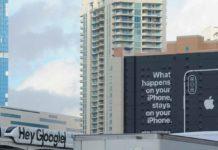 Apple punzecchia Google a Toronto con nuovo un cartellone sulla privacy