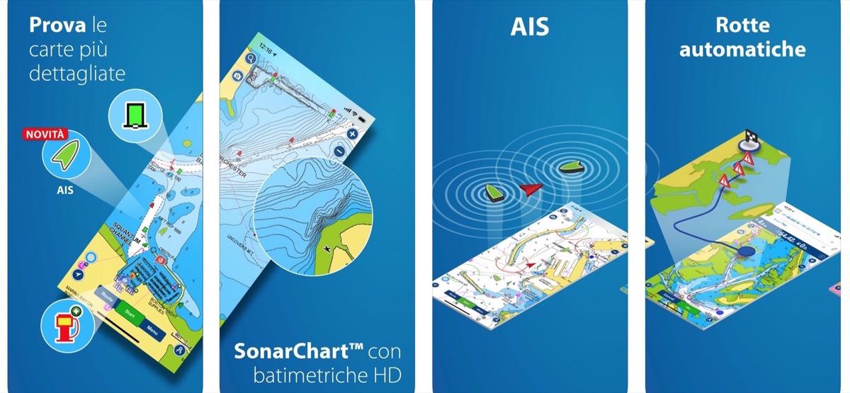 Boating mari e laghi: le carte nautiche in digitale per iPhone, iPad e Android