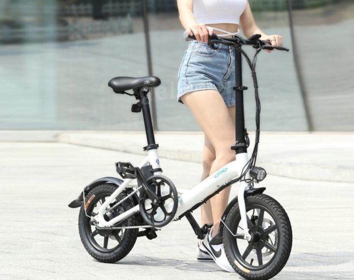 Bicicletta elettrica pieghevole Fiido in offerta a 535,99 euro su Ebay