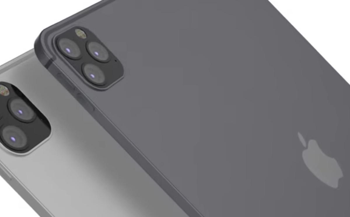iPad Pro 2020 - render tripla fotocamera ipad 2019