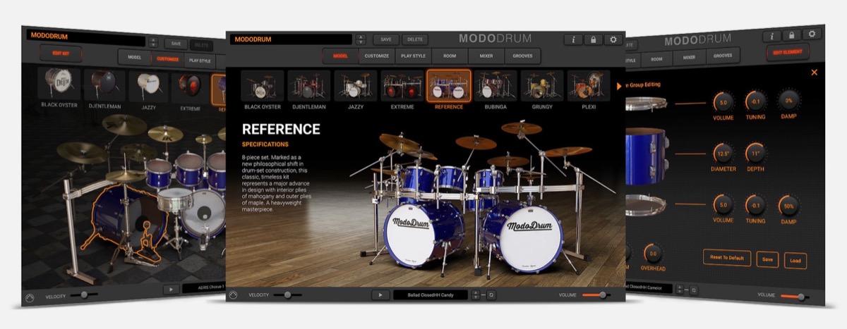 IK Multimedia MODO DRUM, il virtual instrument di batteria a modelli fisici