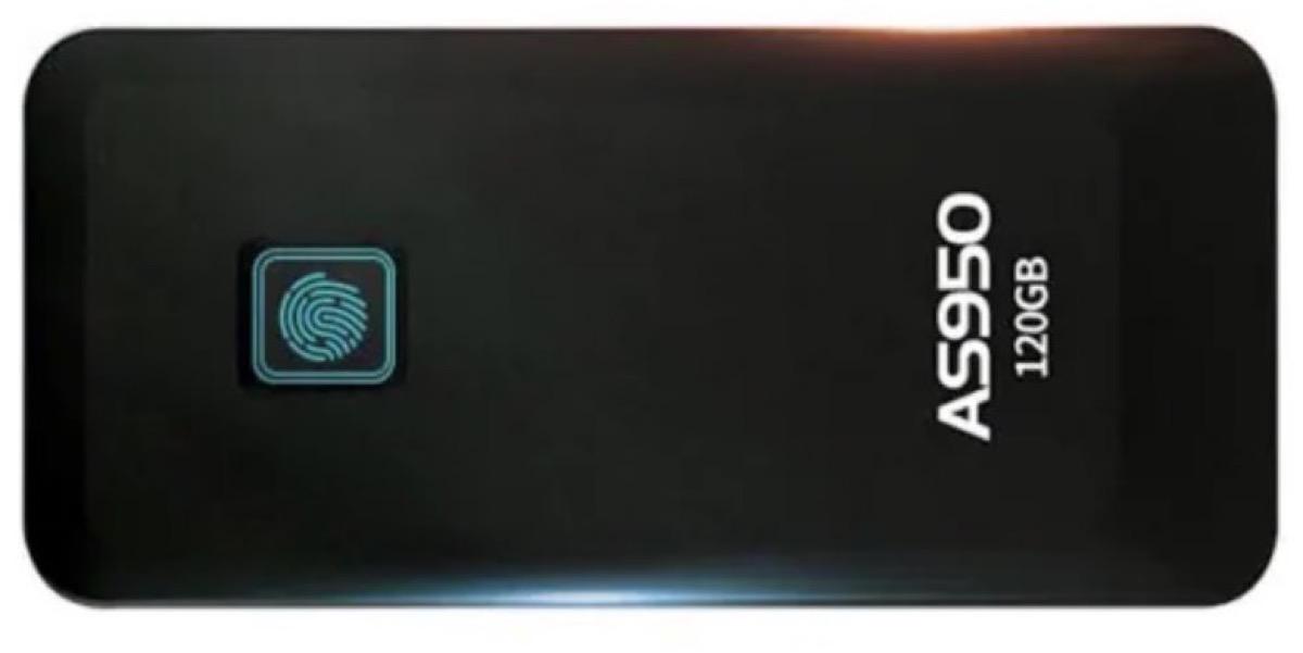 ASint AS950, disco SSD da 120 GB con USB-C e sblocco tramite impronta digitale