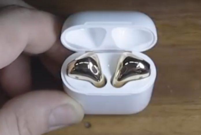 AirPods trasformati in oro 18 carati nel video che affascina