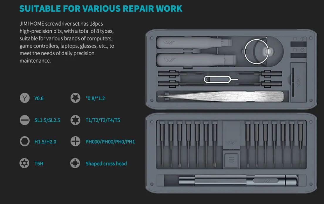 JIMI HOME GNT26, il kit per le riparazioni smartphone fai da te in sconto a 18,18 euro
