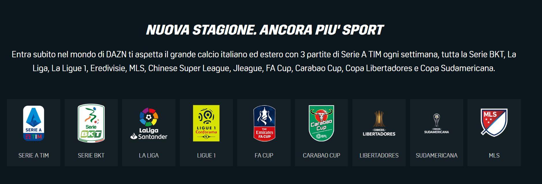 Partite Su Dazn Calendario.Elenco Partite Serie A Su Dazn Stagione 2019 200 Ecco Le
