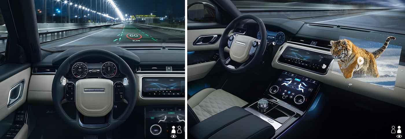 Jaguar Land Rover, nuova tecnologia 3D nell'ambito degli head-up display